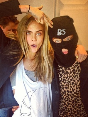LFW s/s 2014 - Giles Cara Delevingne, Harry Styles - 16.9.2013
