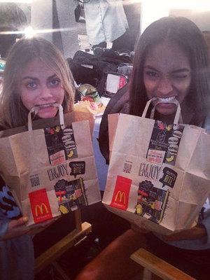 Cara Delevingne and Jourdan Dunn at London Fashion Week, 16 September 2013