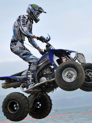 Quad bike and extreme off road racing media day at Weymouth, Dorset, Britain - 09 Jan 2013