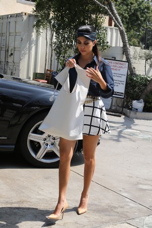 Kourtney Kardashian and Khloe Kardashian out and about in Los Angeles, America - 19 Sep 2013