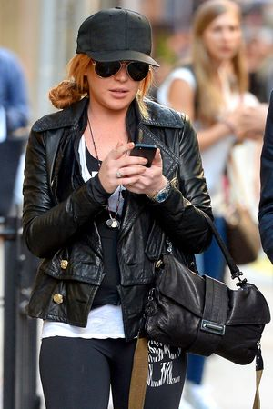 Lindsay Lohan out and about in New York, America - 17 Sep 2013