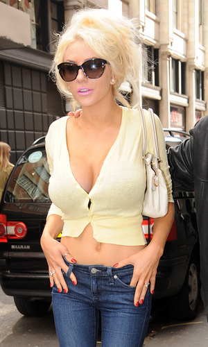 Courtney Stodden and husband Doug Hutchison spotted in London Credit :WENN.com