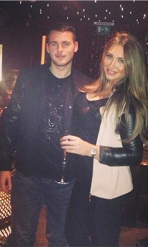 Lauren Goodger toasts her 27th birthday in London with boyfriend Jake McLean