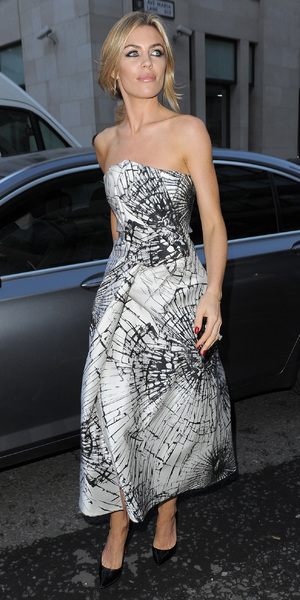 Abbey Clancy at Giles Deacon London Fashion Week - 16 September