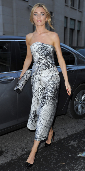 Abbey Clancy at the Giles Deacon show, London Fashion Week - 16 September