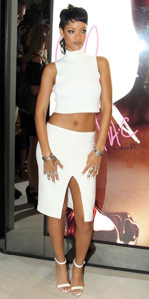 Rihanna promotes her RiRi Hearts MAC Fall collection at a MAC store in Hong Kong - 15 September