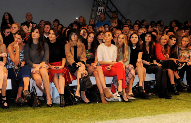 Pixie Geldof, Ellie Goulding, Daisy Lowe at Topshop Unique Spring Summer 2014 show, 15 September