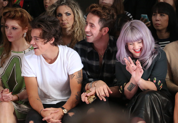Nicola Roberts, Harry Styles, Nick Grimshaw, Kelly Osbourne  London Fashion Week SS14 - House of Holland- Front Row