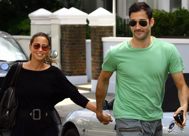 Rachel Stevens and Alex Bourne seen out together ahead of their forthcoming wedding. London England - 31.07.09