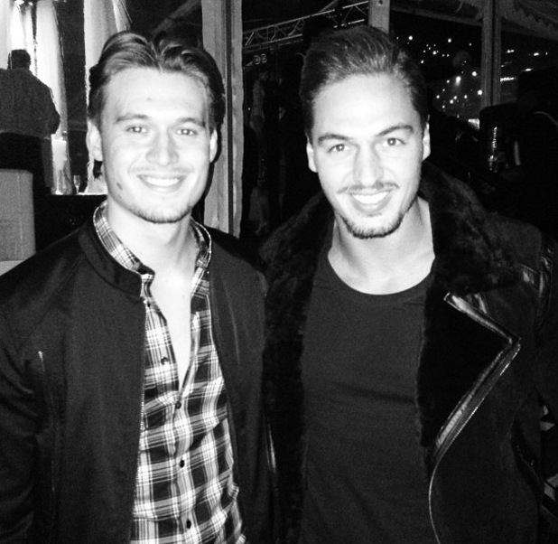 Mario Falcone and Charlie Sims on a night out in Essex