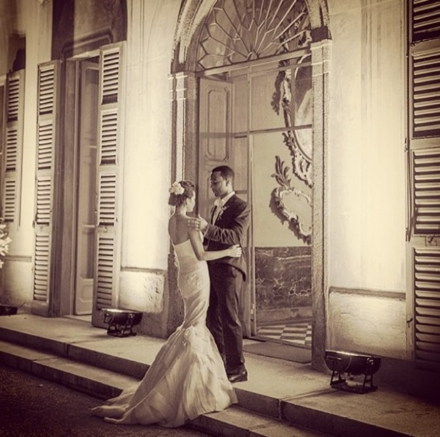 John Legend and his wife Chrissy Teigen on their wedding day in Italy