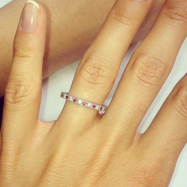 Millie Mackintosh shares a photograph of her wedding ring - 20 September 2013
