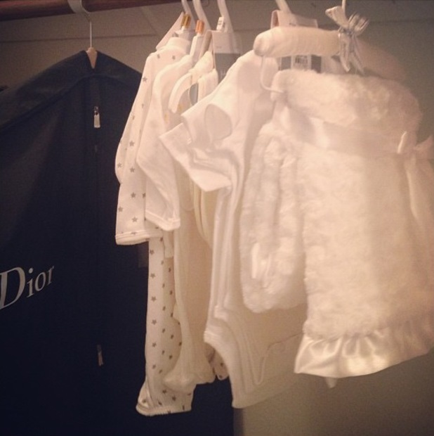 Nadine Coyle shares picture of her baby's clothes - 16 September 2013