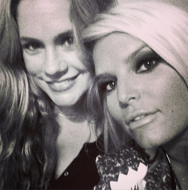 Cacee Cobb and Jessica Simpson
