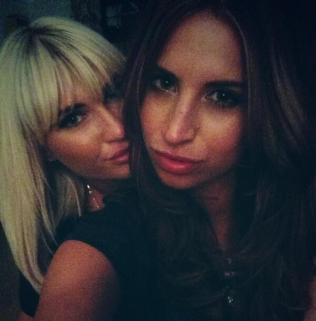 Billie Faiers gets a fringe cut, poses with Ferne McCann- 17 September 2013