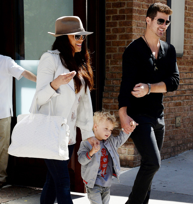 Paula Patton and Robin Thicke out and about, New York, America - 17 Sep 2013