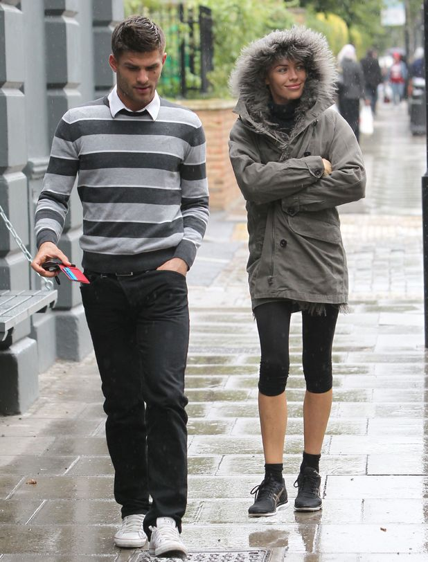 Abbey Clancy and Aljaz Skorjanec out and about in south London, Britain - 17 Sep 2013