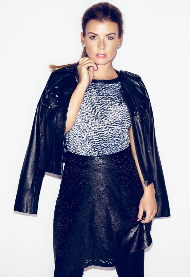 Coleen Rooney models her new A/W '13 collection for Littlewoods