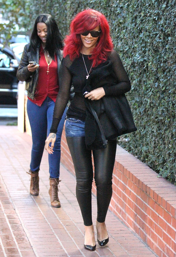 Rihanna in West Hollywood in 2011