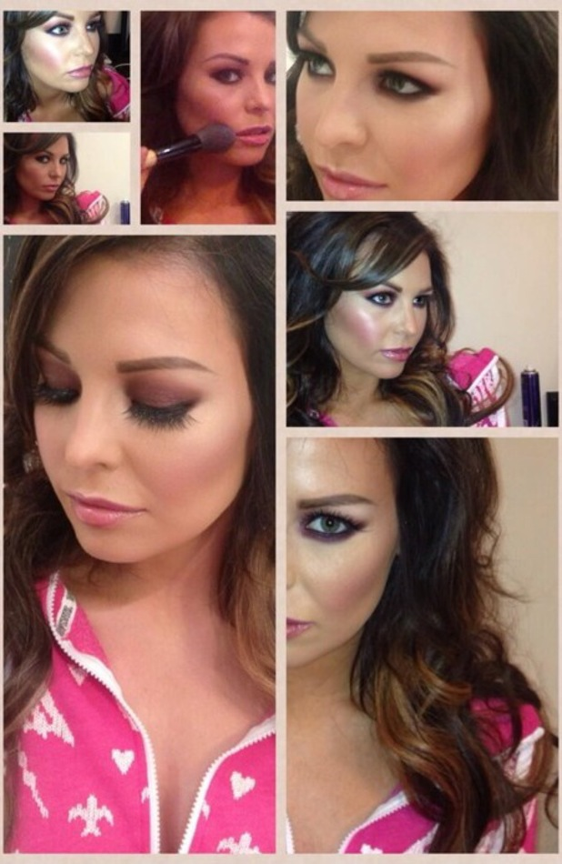 Jessica Wright's birthday make-up look - 13 September