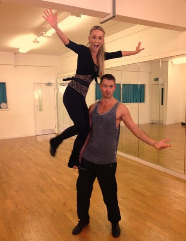 Ashley Taylor Dawson and Ola Jordan in Strictly Come Dancing rehearsals, 17 September 2013