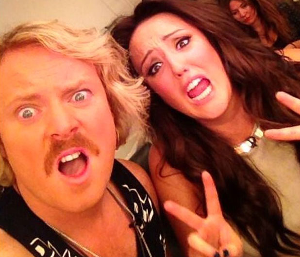 Charlotte Crosby filming Celebrity Juice with Keith Lemon, 18 September 2013