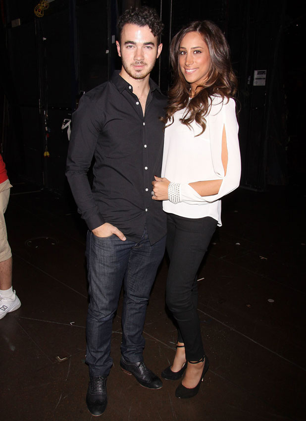 Kevin Jonas and his wife Danielle, who are expecting a baby girl, spent Danielle's birthday taking in the Broadway musical Cinderella at the Broadway Theatre, 18 September 2013