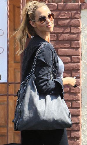 Elizabeth Berkley Lauren seen arriving at a dance studio for Dancing with the Stars, 19 September 2013