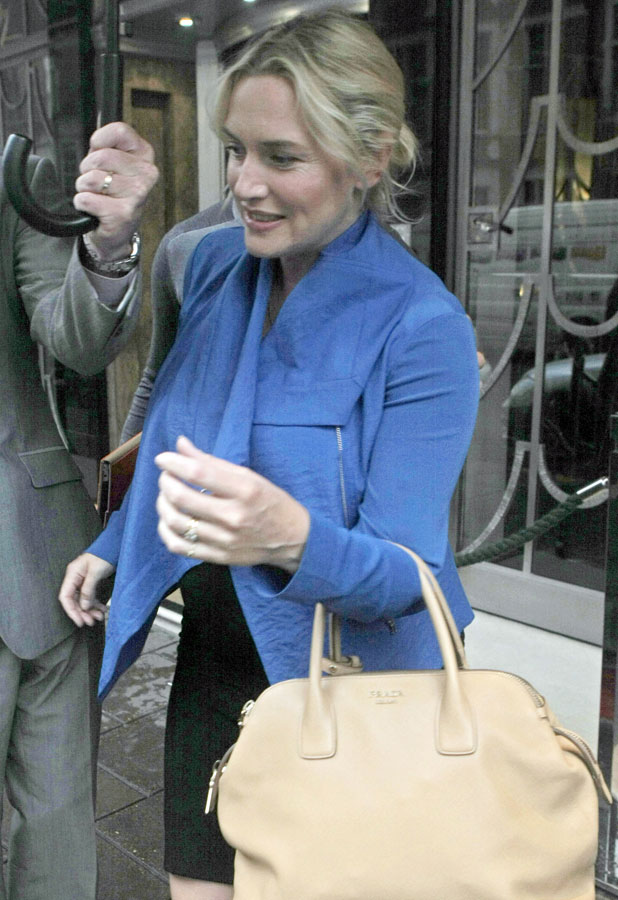 Kate Winslet and Ned Rocknroll out and about, London, Britain - 17 Sep 2013