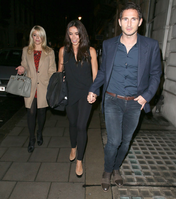 Frank Lampard, Holly Willoughby, Christine Bleakley at Dan Baldwin: Fragile - private view art exhibition - Arrivals, 19 September 2013