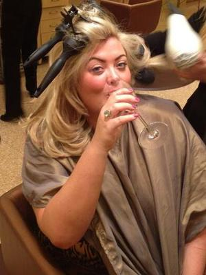 TOWIE's Gemma Collins gets a blow-dry in Las Vegas - 23 September 2013