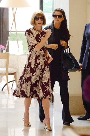 Selena Gomez and Anna Wintour at the Four Season Hotel in Milan, Italy - 22 Sep 2013