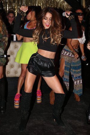 YLA vs Vanessa Hudgens performing live on stage at Bootsy Bellows - 24.9.2013