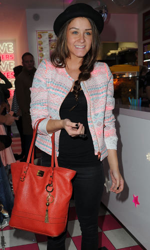 Brooke Vincent - 23.9.2013 Celebrities from Coronations Street and Emmerdale arrive for the Opening of Archies Burgers and Shakes Oxford Road Manchester