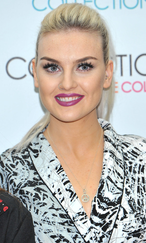 Perrie Edwards - Little Mix at The May Fair Hotel in London launching make-up range for Collection - 24 September
