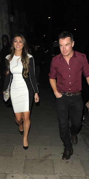 Luisa Zissman leaves Novikov restaurant with friend, radio DJ Greg Burns, 27 Sept 2013