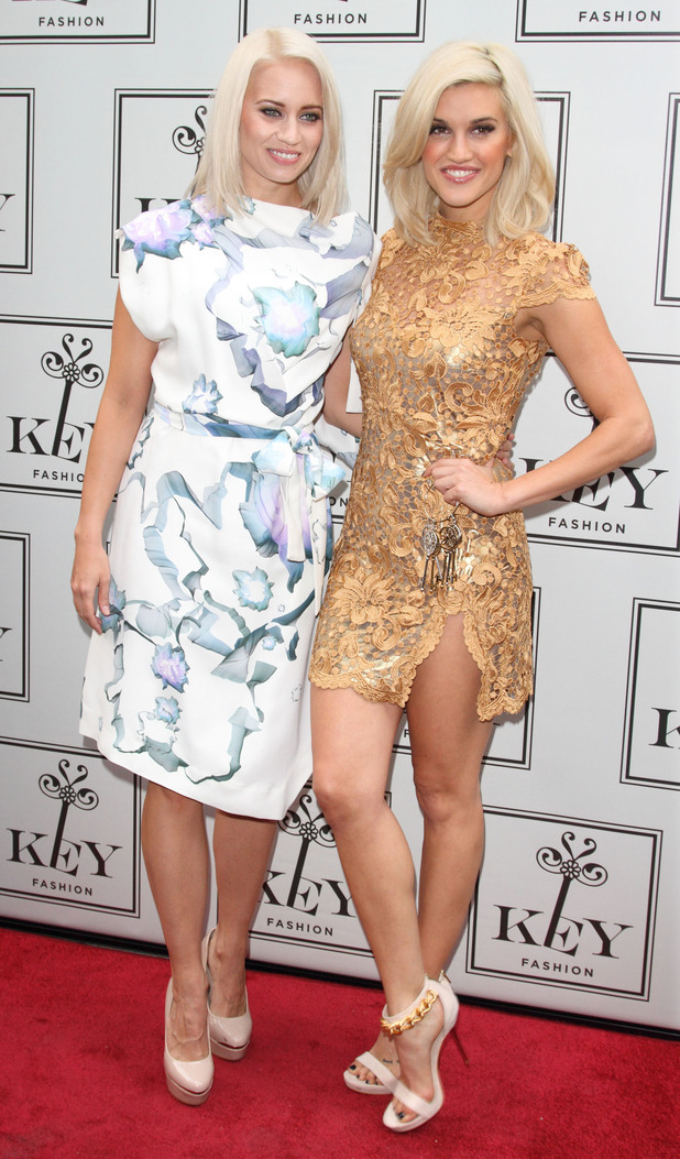 Ashley Roberts and Kimberley Wyatt at launch for Key Fashion new range 25/09/13
