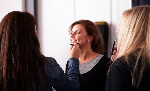 Coleen Rooney backstage on Littlewoods Mid Season shoot - 24 September 2013
