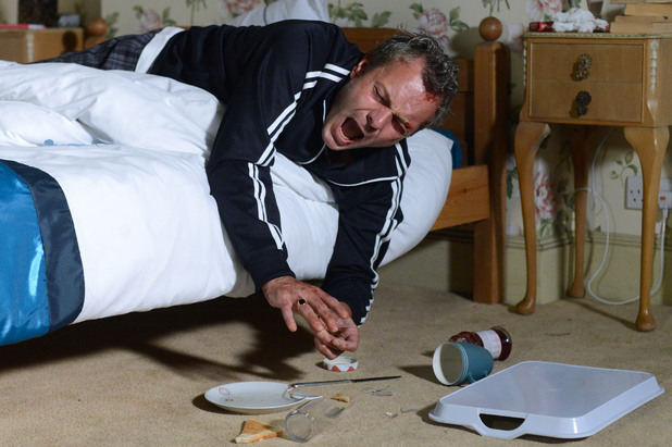 EastEnders, David drops his lunch, Mon 30Sep