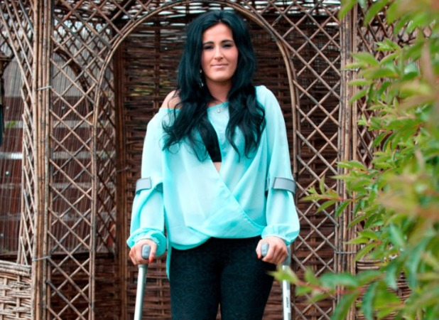 Kirsty is learning to walk again