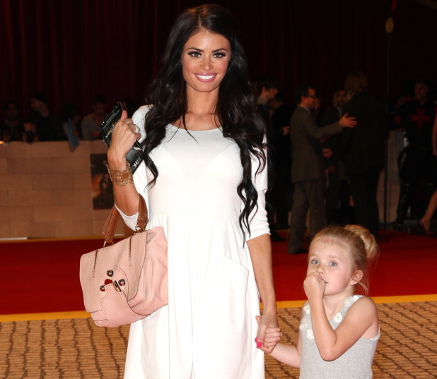 Chloe Sims with her daughter Madison 'The Three Musketeers' film premiere - Arrivals London, England - 04.10.11