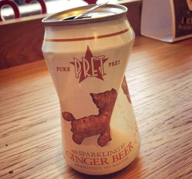 Gareth Malone shares a picture of a can of ginger beer - September 2013