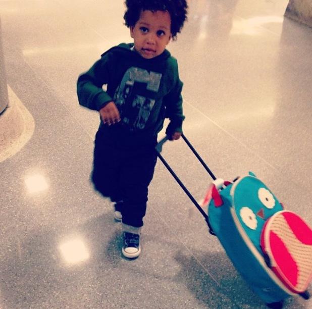 22 Sept 2013 - New York Tia Mowry and son Cree Hardrict