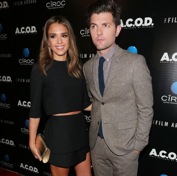 """A.C.O.D."" - Los Angeles Premiere Held at the Landmark Theater Jessica Alba, Adam Scott - 27.9.2013"