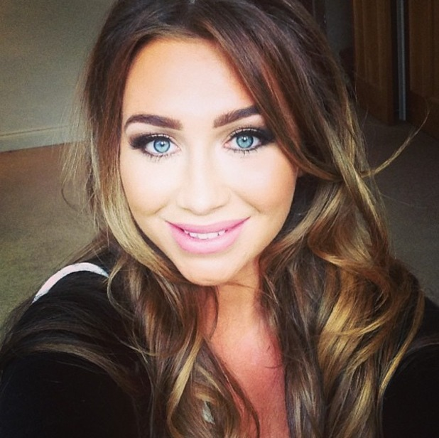 """Lauren Goodger posts Twitter pic with the message: """"I love my hair and make up by @beauXbX .. I'm already girls."""""""