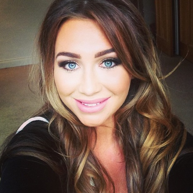 "Lauren Goodger posts Twitter pic with the message: ""I love my hair and make up by @beauXbX .. I'm already girls."""