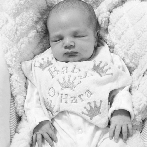 Danielle Lloyd shares first photo of baby son George