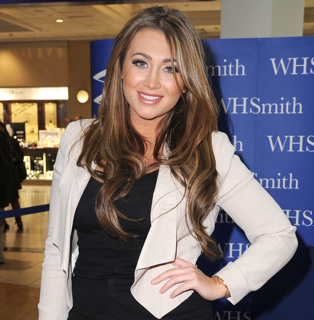 Lauren Goodger signs copies of her book, 'Secrets of an Essex Girl' at WHSmith Manchester, 19 February 2013