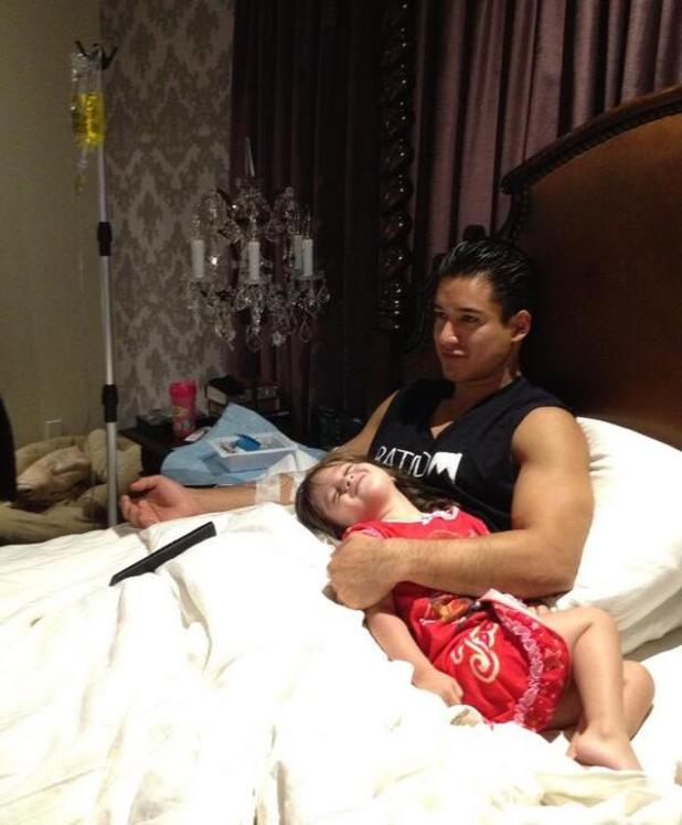Mario Lopez hooked up to IV drip at home after the Emmy Awards - 22.9.2013