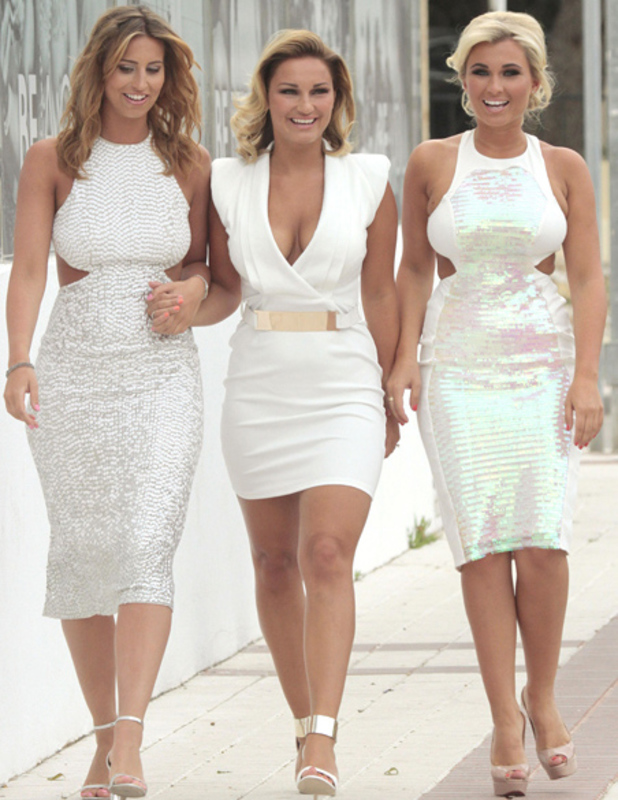 Sam Faiers, Billie Faiers and Ferne McCann in Marbella on 28 May 2013